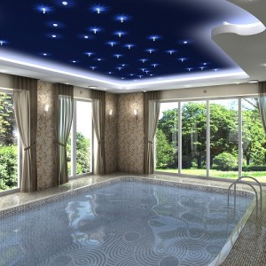 PISCINA INDOOR SOFFITTO BLU